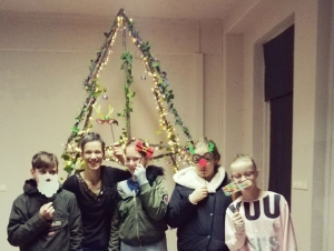 Kerstboom gemaakt door onze leerlingen